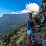 Lion's head view of Table mountain South Africa Cape Town