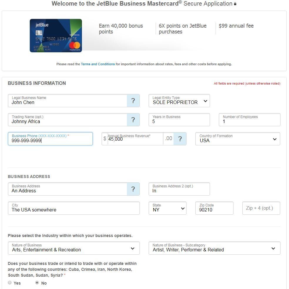 Do you need a business to apply for a business credit card johnny see reheart Images