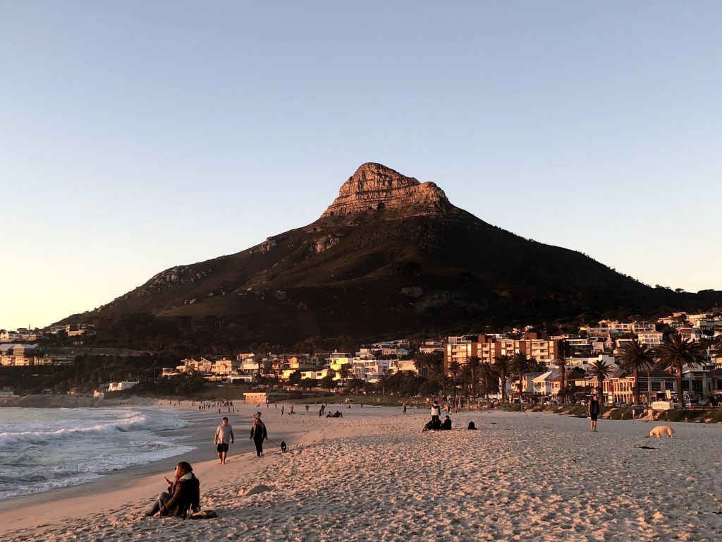 camps bay lion's head view south africa cape town